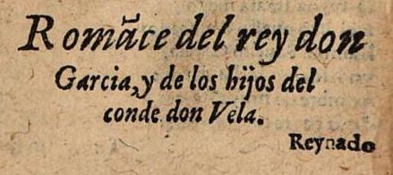 fragmento romances lorenzo sepulveda romanz infant garcia