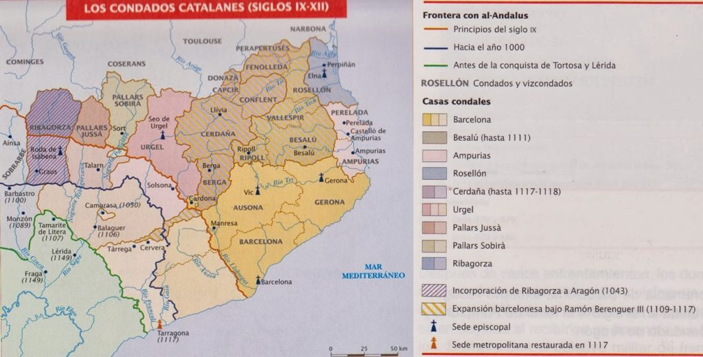 Condados catalanes siglos IX-XI
